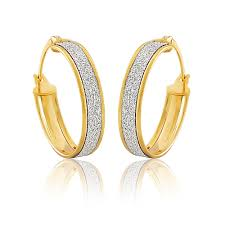 creole earrings 9ct yellow gold stardust creole earrings all jewellery from