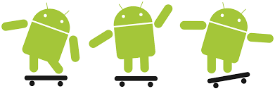 android bot file android robot skateboarding svg wikimedia commons