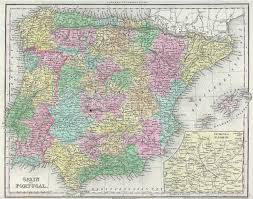Map Of Spain And Portugal Antique Maps Of Spain And Portugal
