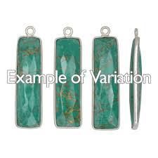 turquoise gemstone mojave turquoise gemstone and sterling silver bezel pendant