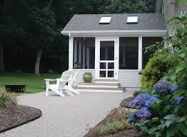 screen porch panels exterior contemporary with cleveland driveway