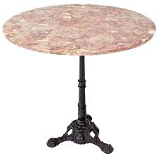 antique marble top pedestal table cast iron base pink marble top pedestal table for sale at 1stdibs