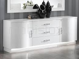 Buffet bahut ANTONIA 2 portes et 3 tiroirs blanc laqué classique