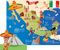 Map Of Cities In Mexico by Mexico Cartoon Map Stock Vector Art 530755193 Istock