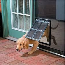 Patio Doors With Built In Pet Door Amazon Com Petsafe Pet Screen Door Bronze Pet Door For Screen