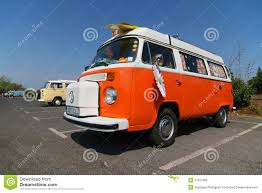 volkswagen camper trailer old timer camper trailer stock photos image 28860373
