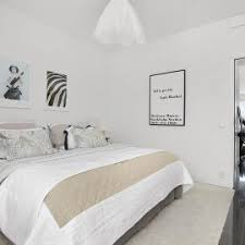 minimalist scandinavian bedroom design with king size bed plus