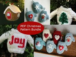knitting pattern ornament pattern bundle pdf
