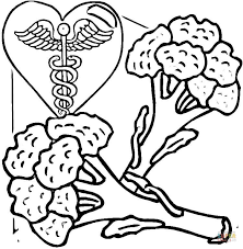 broccoli is healthy food coloring page free printable coloring pages