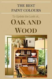 the best paint colours to go with oak trim floor cabinets and