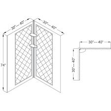 Shower Base Kits Dreamline Cornerview Framed Sliding Shower Enclosure 36