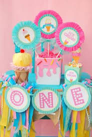 ice cream cone centerpiece birthday centerpiece girls party