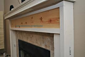 build fireplace mantel over brick how to a shelf rustic