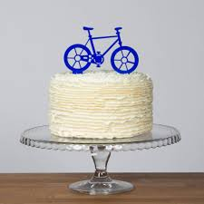 bicycle cake topper and mini bike picks set by funky laser