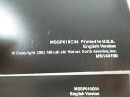 2004 mitsubishi eclipse spyder owners manual mitsubishi amazon