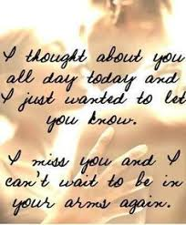 military spouse missing you quotes for him telling him her how