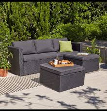 Outdoor Patio Furniture Orlando by Orlando Chaise And Footstool Garden Patio Decking Set In Weston