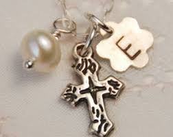 baptism necklace baptism necklace etsy