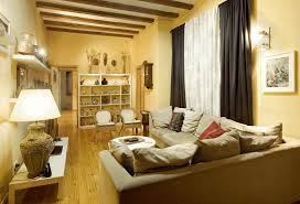 space saving ideas for small living room brown wood upholstery