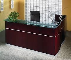 Reception Desk Office Mayline Model Nrslbf Napoli L Shaped Modern Reception Desk With