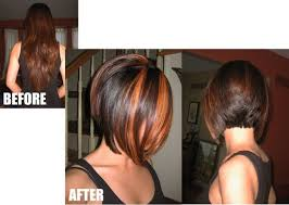 Inverted Bob Frisuren by Bob Haircuts With Chunky Highlights Inverted Bob With Chunky