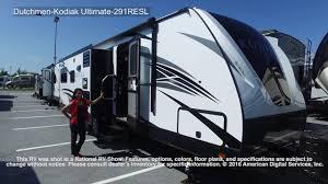 kodiak travel trailer floor plans dutchmen kodiak ultimate 291resl youtube