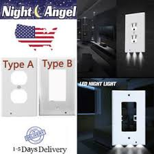 receptacle cover night light pro duplex night angel light sensor led plug cover wall outlet