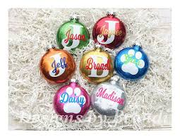 personalized glitter ornaments personalized