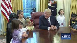 president trump invites u0027trick or treaters u0027 in the oval office