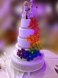 A Wedding Cake Wedding Cake With A Rainbow Theme For A Special Couple U2013 Maddies Cakes