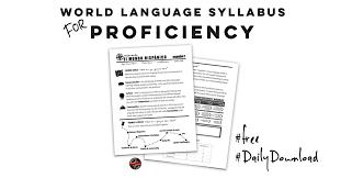 world language syllabus for proficiency u2013 creative language class