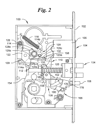 Mortise Locksets Patent Us7007985 Automatic Deadbolt Mechanism For A Mortise Lock