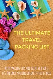 the only packing list template you u0027ll ever need indiana jo