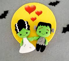 halloween decor bride of frankenstein creepy cute doll