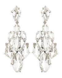 diamond chandelier earrings bittar clear quartz claw diamond chandelier earrings
