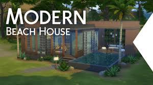 the sims 4 building modern beach house