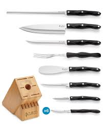 Different Kinds Of Kitchen Knives by Galley 6 Set With Block 15 Pieces Knife Block Sets By Cutco