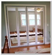Mirrored Bifold Doors For Closets Closet Doors At Home Depot Handballtunisie Org