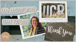 diy graduation announcements u0026 thank you cards youtube