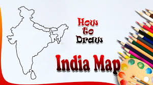 how to draw india map indiamap drawing for kids how to paint