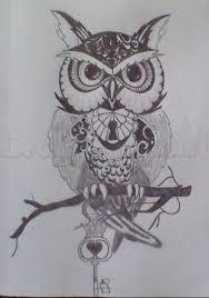 owl tattoo step by step tattoos pop culture free online
