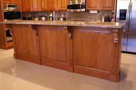 Kitchen Island Corbels Panelized Backing And Wainscoting In Las Vegas
