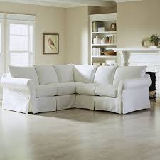 How To Make Sofa Covers Furniture Pretty Slipcovered Sectional Sofa For Comfy Your Living