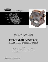 ct4 134 di v2203 di service parts list for diesel engine