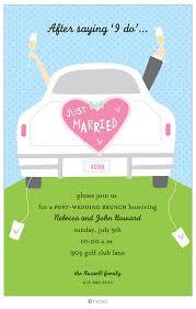 post wedding brunch invitations we like design