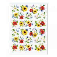 sunflower wrapping paper poppies sunflowers daisies stickers current catalog