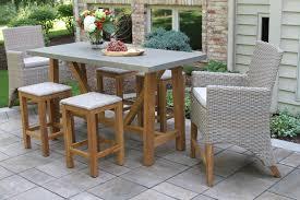 Composite Patio Table Teak Hardwood U0026 Ash Wicker Outdoor Bar Stool 2pk