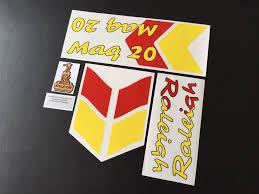 Raleigh Flag Mag 20 Decal Set