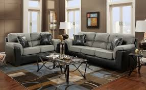 gray living room sets roundhill furniture laredo 2 toned sofa and loveseat living room set