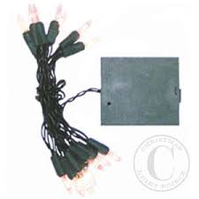 battery operated christmas lights green wire